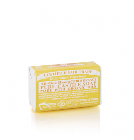 Dr. Bronner's - Citrus Pure-Castile Bar Soap