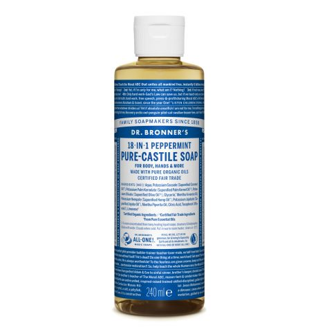 Dr. Bronner's - Peppermint Pure Castile Liquid Soap