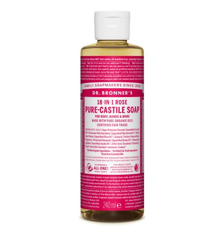 Dr. Bronner's - Rose Pure-Castile Liquid Soap