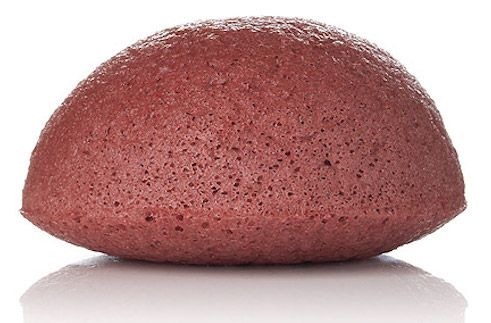 Konjac facial puff sponge french red clay